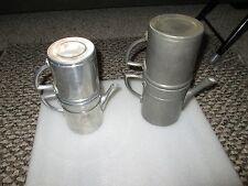 2 VINTAGE/OLD ALUMINUM TEA/COFFEE FLIP/DRIP MAKER, ITALY