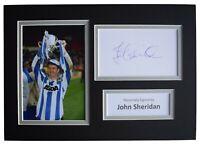 John Sheridan Signed Autograph A4 photo display Sheffield Wednesday AFTAL COA