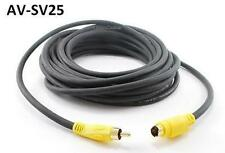 25ft Universal S-Video 4-Pin miniDIN Male to RCA Male Video Cable,  AV-SV25