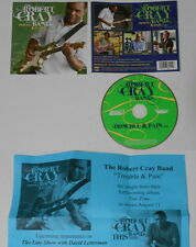 Robert Cray  Trouble & Pain  2009 U.S. promo cd  with press sheet