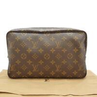Auth LOUIS VUITTON Trousse Toilette 28 Cosmetic Bag Monogram M47522 #S307049