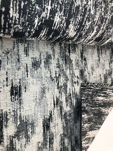 7 metres black and grey upholstery fabric