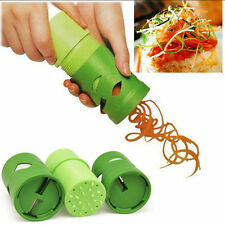 Easy Veggie Spiral Cutter Slicer Peeler Grater Fruit Vegetable Garnish HOT  CB&@