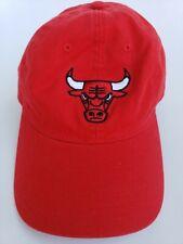 CHICAGO BULLS NBA Adidas STYLE FLAT BILL SNAPBACK SOLID RED CAP HAT .