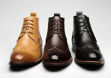 Chelsea, Ankle Boots Lace Up Synthetic Shoes for Men