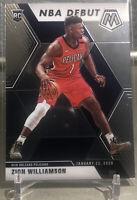 Zion Williamson 2019 Panini Mosaic  NBA Debut No.269 Pelicans Rookie Card D728