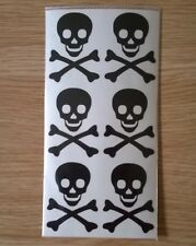 Scull & Crossbones Pirate Stickers for decoration stationery party peel & stick