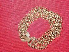 """Kalevala Koru Finland Vintage Bronze Bracelet Viking Byzantine Etruscan Style 7"""""""