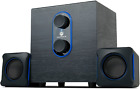 GOgroove SonaVERSE LBr 2.1 Computer Speakers with Subwoofer - USB Powered PC AUX
