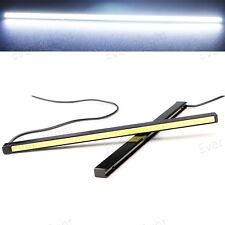 2x Ultra Slim 3W COB LED Car Daytime Running Light DRL Fog Lamp Waterproof White