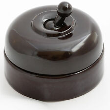 Kerson Fully Restored Vintage Bakelite and Ceramic Toggle Light Switch 1Way