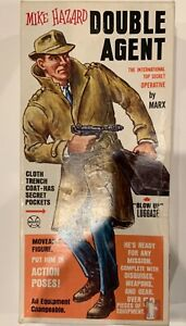 Vintage Marx 1960's Mike Hazard Double Agent Figure With Accessories MIB!