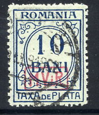 GERMAN MILITARY POST IN ROMANIA 1918 postage due 10b. watermarked, used