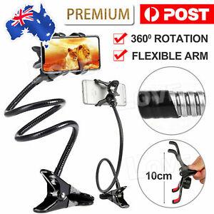 Mobile Phone Flexible 360° Clip Mount Stand Holder Bracket Clamp Desk Bed Office