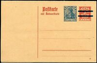 BAVARIA RED  MINT REPLY  POSTCARD  BAR RE-IMPRINTED GERMANY GERMANIA 30 pfg