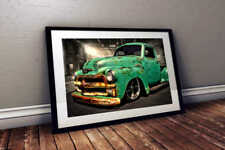 """1950 Chevy 3600 """"The Gabe"""" Patina Truck - 24x36 HD Muscle Car Poster Print"""