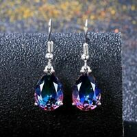 Women Earrings Rainbow Gift 10 Silver Wedding Mystic 14 Jewelry Hook