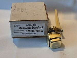 American Standard Push Button Tank Lever Polished Brass Handle Plastic Arm
