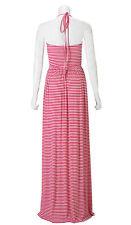 $210 Rachel Pally KIA Rib Geranium Stripe Cream Drape Halter Dress XS NWT