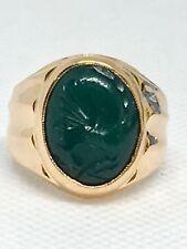 Vintage 21k Rose Gold Intaglio Ring