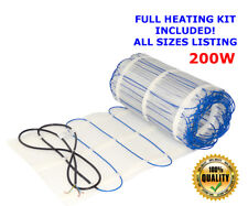 Electric underfloor heating mat kit 200W/m2 All Sizes in this Listing (ULTRA)