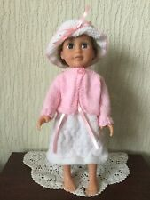 """HAND KNITTED CLOTHES FOR DESIGNAFRIEND LITTLE SISTER & 14 """" SIMILAR DOLLS (LS15)"""
