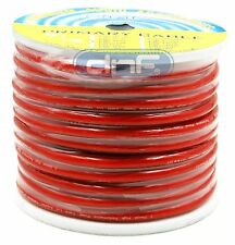 2 Gauge 100% OFC Red SeeThrough PowerCable  19.60 Feet - FREE SAME DAY SHIPPING!