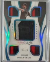 2020 Immaculate Baseball DYLAN CEASE RC  ROOKIE RESERVE 5x PATCH White Sox #7/25
