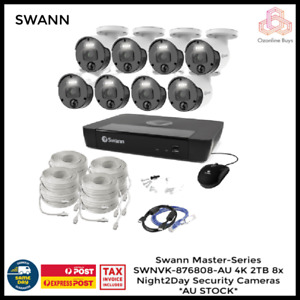 Swann Master-Series 4K HD 8 Camera 8 Channel NVR Security System SWNVK-876808-AU