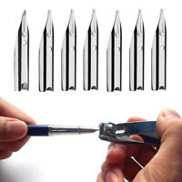 Lot of 50/100 Replacement Fountain Pen Nibs 0.38mm Writing Nib Tip Silver Color