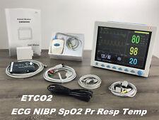 Etco2 Patient Monitor Icu Vital Signs Ecgnibpspo2prresptemp Cms8000 New Us