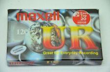 Originale Maxell UR120 IEC TYP I Audio Kassette • Nimmer geoffnet, noch in OVP •