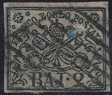 ITALY / Roman States 1852 ARMS SC#3d used (sm.SURFACE SKIP) CV$32.50