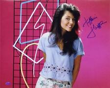 Tiffani Amber Thiessen Signed Saved By The Bell 16x20 Photo OC Dugout COA Auto C