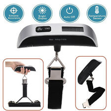 Compact Portable Travel Tare 110lb 50kg Hanging Digital Suitcase Luggage Scale