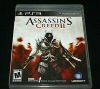 PS3 Assassin's Creed II Video Game w/ Manual Case Disc Adult Owned  -V=