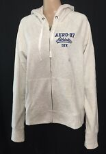 Aeropostale 87 Athletic Full Zip Hoodie Juniors Size XL Straw Slim Fit NWT