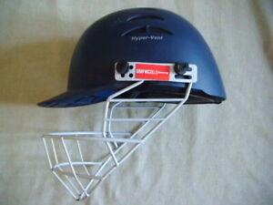 Gray Nicolls Predator Cricket Helmet -- good used dark blue helmet Youth 55-56cm