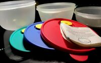 (6pc) Set NEW VINTAGE Tupperware Crystalwave Microwave Containers (3) & (3) Lids