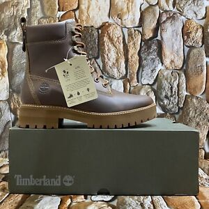 TIMBERLAND MEN'S COURMA GUY WATERPROOF LEATHER BOOTS MEDIUM BROWN A2NC9 SIZE 8M
