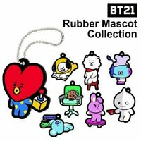 BTS BT21 Official Goods Rubber Mascot Collection 8Characters SET Ver + Track#