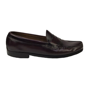 Vintage Bass Burgundy Leather Penny Loafers Men's 11.5 D