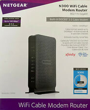 Netgear N300 WiFi Cable Modem Router 802.11n Gigabit, Built-in DOCSIS 3.0