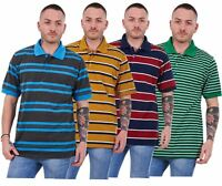 New Mens Striped T-Shirts Loose Fit Polycotton Tops Tees Casual Shirts M to XXL