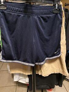 Nike Navy Blue Mesh Shorts Size M 10/12