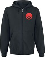 Bioworld Men's Hoodie - Pokemon Pokeball and Starting Characters, Black