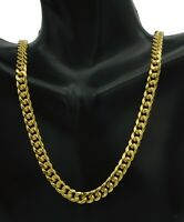 """10K Yellow REAL GOLD Miami Cuban Curb Chain Necklace 6mm 20''22""""-24"""" 26"""""""
