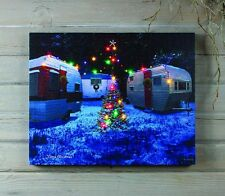 """16"""" x 20"""" LED Airstream Camper LIGHTED PRINT Ohio Wholesale X47426 NEW CHRISTMAS"""