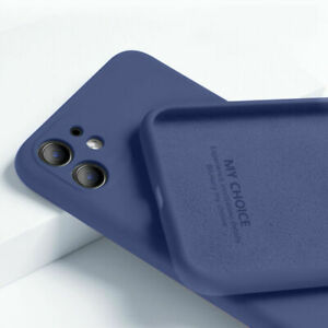 For iPhone 13 12 Mini 11 Pro Max X XS XR SE 8 7 Liquid Silicone Soft Case Cover