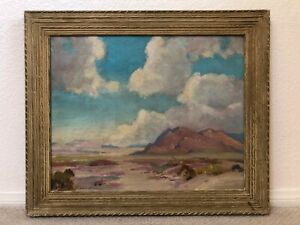 🔥 Antique California Plein Air Impressionist Landscape Oil Painting, Carruthers